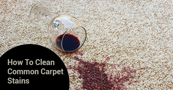 How To Clean Common Carpet Stains