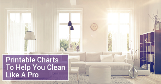 Printable Charts To Help You Clean Like A Pro