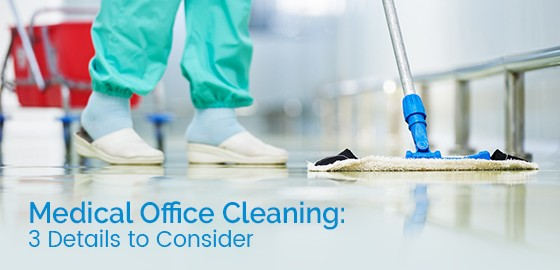Floor care and cleaning services in medical office