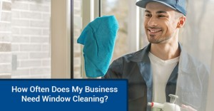 Right frequency for cleaning office windows