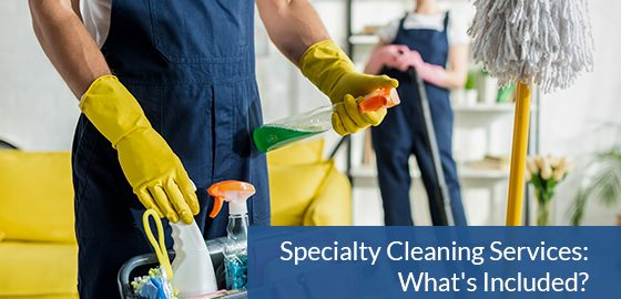 What is included in specialty cleaning services?